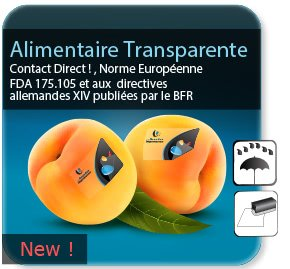 Autocollant & Étiquette Etiquette alimentaire transparente pour contact alimentaire direct