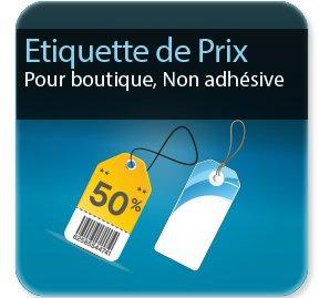 Autocollant & Étiquette etiquette de prix / non adhésive