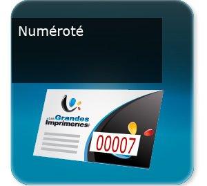 Flyers Prospectus ou document numéroté avec numéro incrémenté