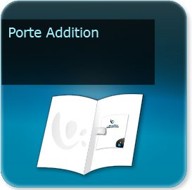 Pochette couvert addition serviette Porte Addition