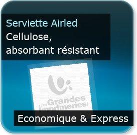 Pochette couvert addition serviette Impression serviette papier restaurant A SEC Airled