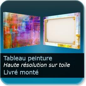 affichette évenement Toile à tableau - Toile Canvas 400g - impression - recto seul