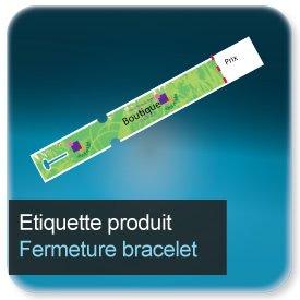 Autocollant & Étiquette Fermeture bracelet (baguage, objet, materiel, déco, appareil)