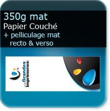 marque page noir et blanc 350g mat + pelliculage mat recto verso