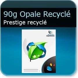 realisation de papier à lettre 90g Opale recyclé  - Compatible imprimante laser & jet d'encre
