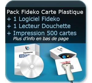 Carte de fidelité Pack FIDECO logiciel + lecteur code barre (douchette) + 500 cartes plastique personnalisée