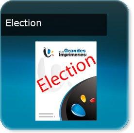 tarif impression affiche Affiche spéciale élection papier recyclé115 gr cyclus print
