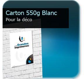 Panneau publicitaire carton 550g blanc