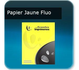 affichette publicitaire Papier jaune fluo