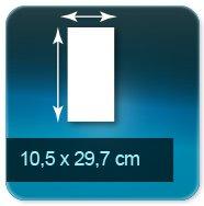 Autocollant & Étiquette Format long 105 x 297 mm