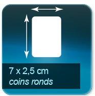 Autocollant & Étiquette Format 70x25mm coins ronds