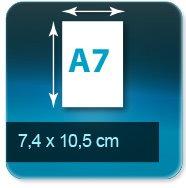 Autocollant & Étiquette Format A7   74 x 105mm