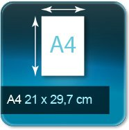 Autocollant & Étiquette Format A4  297x210 mm