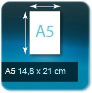 Autocollant & Étiquette Format A5  148x210 mm