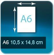 Autocollant & Étiquette Format A6  105 x 148 mm