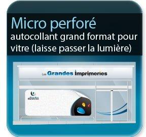 imprimeur étiquette Autocollant microperforé Grand format (laisse passer la lumière)