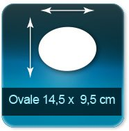 Autocollant & Étiquette Format Ovale 145 x 95 mm