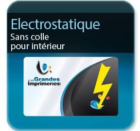autocollant personnalisé Electrostatique  -Polypro Stafix ( sans colle )