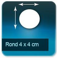 Autocollant & Étiquette Format Rond de 4cm de diamètre