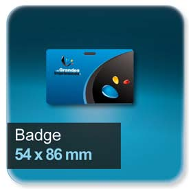 Badge 54x86 mm
