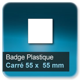 Badge Carré 55x55 mm