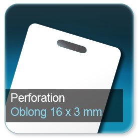 Cartes de visite Perforation oblong 16x3mm