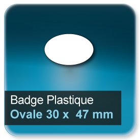 Badge Ovale 30x47 mm