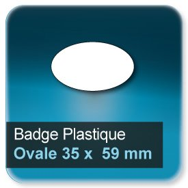 Badge Ovale 35x59 mm