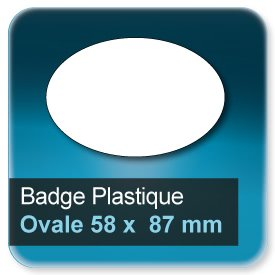 Badge Ovale 58x87 mm