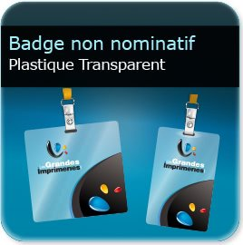 Badge Badge plastique transparent polyester 0,55mm Brillant miroir
