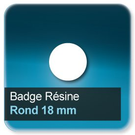 Badge Rond diamètre 18 mm