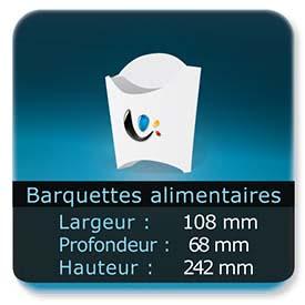 Emballage (Coffret, Boîte, carton, colis et etuis) Largeur de 108 mm - Profondeur 68 mm - Hauteur de 242 mm