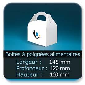 Emballage (Coffret, Boîte, carton, colis et etuis) Largeur de 145 mm - Profondeur 120 mm - Hauteur de 160 mm