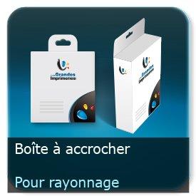 Emballage (Coffret, Boîte, carton, colis et etuis) À accrocher avec perforation pour rayonnage