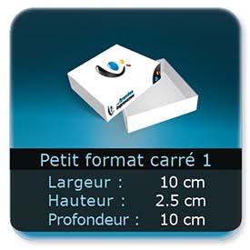 Emballage (Coffret, Boîte, carton, colis et etuis) 10 x 10 x 2,5 cm (Largeur x profondeur x hauteur)