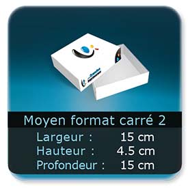 Emballage (Coffret, Boîte, carton, colis et etuis) 15 x 15 x 4,5 cm (Largeur x profondeur x hauteur)