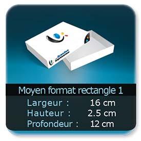 Emballage (Coffret, Boîte, carton, colis et etuis) 16 x 12 x 2,5 cm (Largeur x profondeur x hauteur)