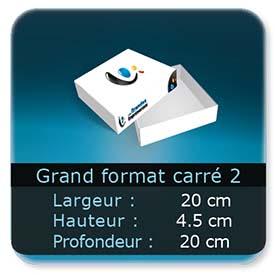 Emballage (Coffret, Boîte, carton, colis et etuis) 20 x 20 x 4,5 cm (Largeur x profondeur x hauteur)