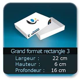 Emballage (Coffret, Boîte, carton, colis et etuis) 22 x 16 x 6 cm (Largeur x profondeur x hauteur)