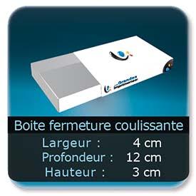 Emballage (Coffret, Boîte, carton, colis et etuis) 4 x 12 x 3 cm - Largeur de 4 cm - Profondeur 12 cm - Hauteur de 3 cm