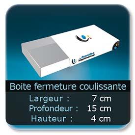 Emballage (Coffret, Boîte, carton, colis et etuis) 7 x 15 x 4 cm - Largeur de 7 cm - Profondeur 15 cm - Hauteur de 4 cm
