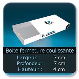 Emballage (Coffret, Boîte, carton, colis et etuis) 7 x 7 x 4 cm - Largeur de 7 cm - Profondeur 7 cm - Hauteur de 4 cm