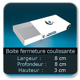 Emballage (Coffret, Boîte, carton, colis et etuis) 8 x 8 x 3 cm - Largeur de 8 cm - Profondeur 8 cm - Hauteur de 3 cm