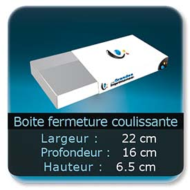 Emballage (Coffret, Boîte, carton, colis et etuis) 22 x 16 x 6,5 cm (Largeur x profondeur x hauteur)