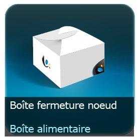 Emballage (Coffret, Boîte, carton, colis et etuis) Boite fermeture noeud alimentaire carton personnalisé 360g Delipac (Résistant aux huiles, recyclable, compostable et biodégradable)
