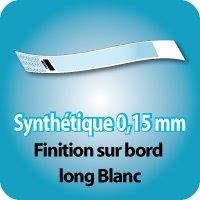 Carnets de tickets Synthétique 0,15mm, finition sur bord long blanc, 24x275mm
