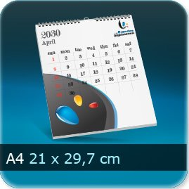 Calendriers A4 210x297mm