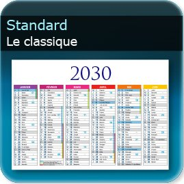 Calendriers Standard