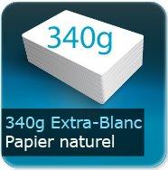 Cartes de visite 340g papier extra-blanc