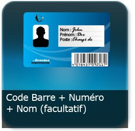 Cartes De Visite Option Code Barre Numero Ou Nom Prenom